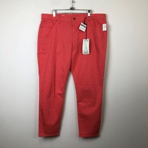 NWT Gap 1969 Coral Bells Dotted Legging Jeans